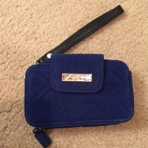 Blue Wallet that holds iPhone 5/5s/SE